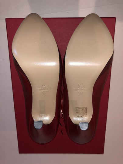 Valentino Leather Red Pumps Image 7