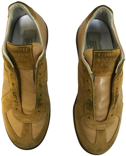 Maison Margiela Suede Rubber Sole Mustard Athletic Image 0
