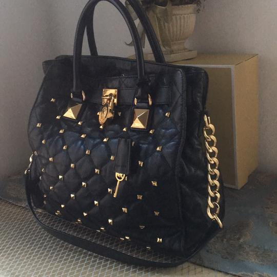 Michael Kors Tote in Black and Gold Hardware Image 1