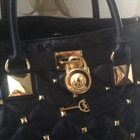 Michael Kors Tote in Black and Gold Hardware Image 10