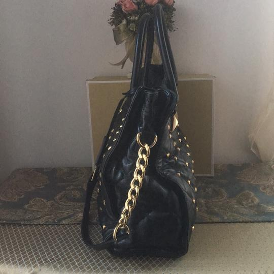 Michael Kors Tote in Black and Gold Hardware Image 2