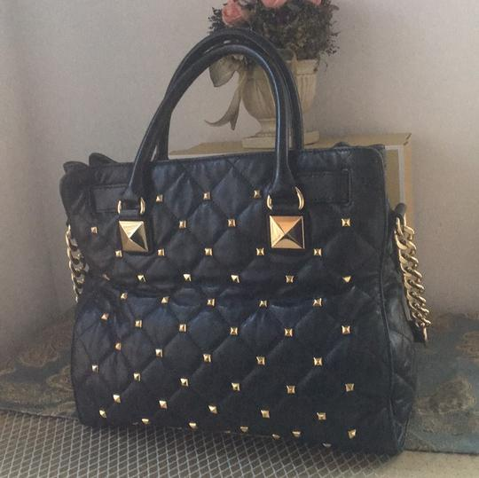 Michael Kors Tote in Black and Gold Hardware Image 3