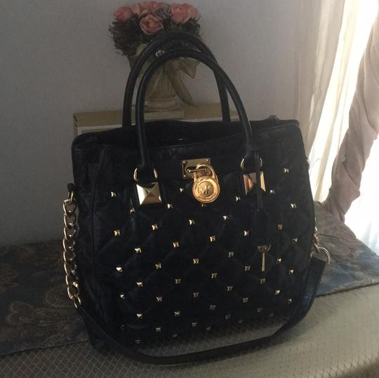 Michael Kors Tote in Black and Gold Hardware Image 8