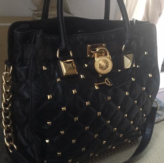Michael Kors Tote in Black and Gold Hardware Image 9