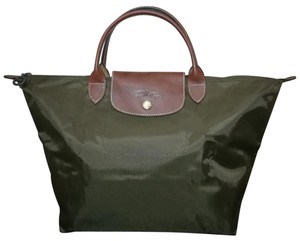 Longchamp Lightweight Folding Interior Pocket Waterproof Tote in Taupe