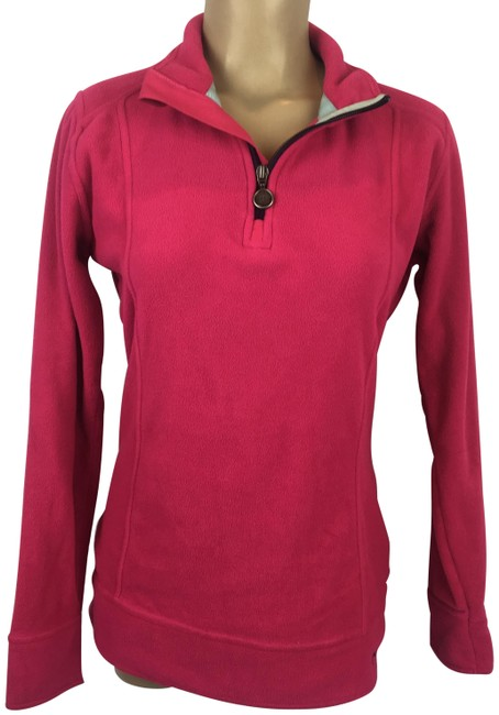 Item - Pink Fleece Zip Neck Activewear Outerwear Size 10 (M)