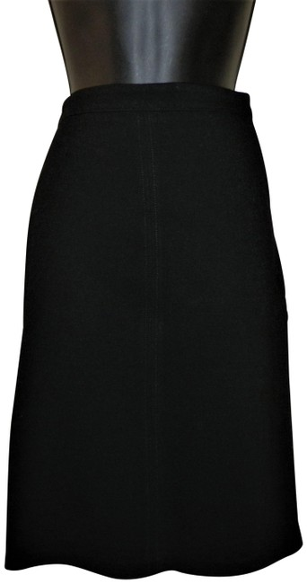 J.Crew Stretchy Pencil Spandex Lined Skirt Black Image 0