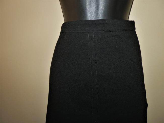 J.Crew Stretchy Pencil Spandex Lined Skirt Black Image 2