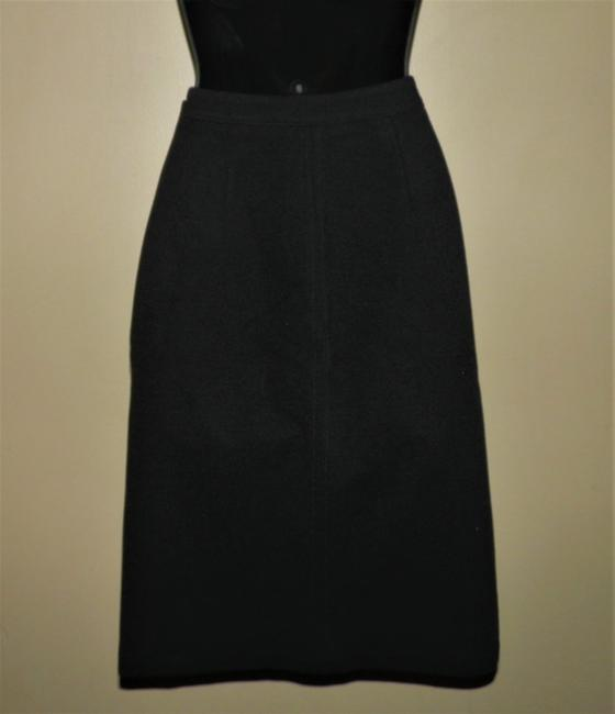J.Crew Stretchy Pencil Spandex Lined Skirt Black Image 3