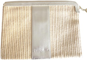 Lilly Pulitzer Straw Gold Natural Clutch
