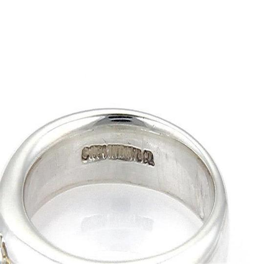 Tiffany & Co. Sterling Silver 18k Yellow Gold Key Drop Charm Band Ring Image 2