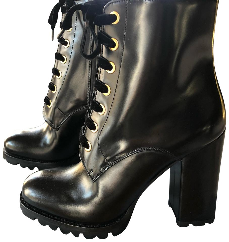ac8a7e0165c8bb Prada Black Calzature Donna Ankle with Lace-up Lug Sole/Heel Boots ...