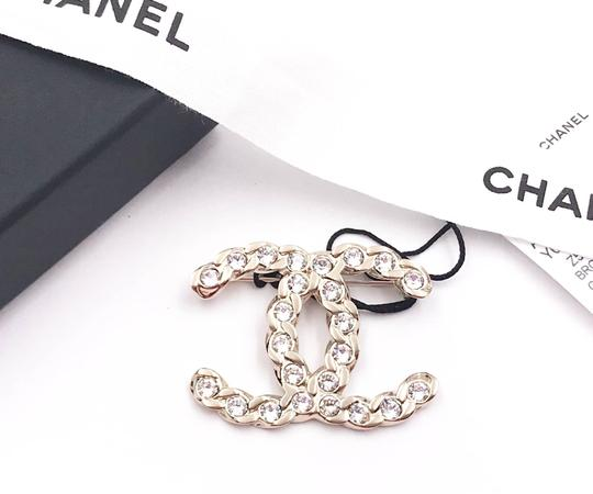 Chanel Chanel Brand New Gold Chain CC Crystal Brooch Image 1