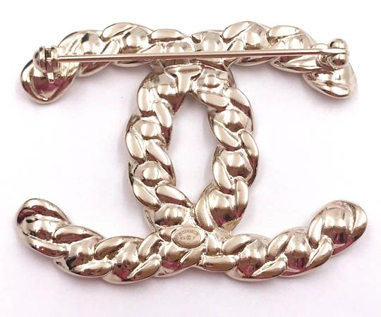 Chanel Chanel Brand New Gold Chain CC Crystal Brooch Image 2