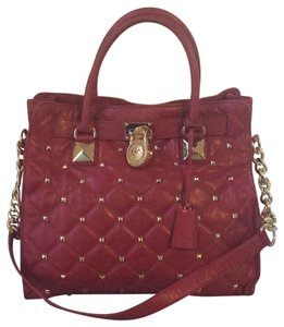 MICHAEL Michael Kors Tote in Red with Gold Hardware