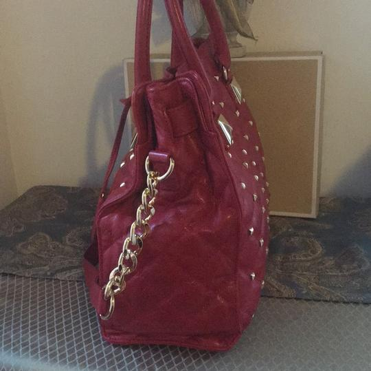 MICHAEL Michael Kors Tote in Red with Gold Hardware Image 2