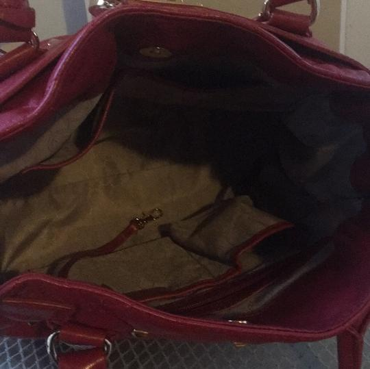 MICHAEL Michael Kors Tote in Red with Gold Hardware Image 4