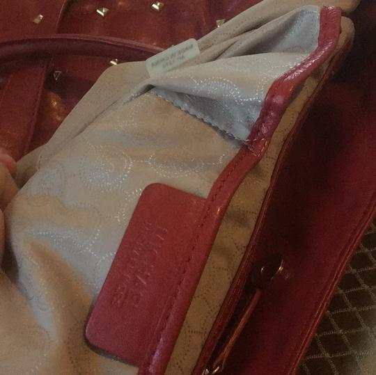 MICHAEL Michael Kors Tote in Red with Gold Hardware Image 5