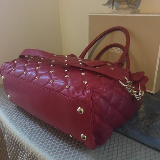 MICHAEL Michael Kors Tote in Red with Gold Hardware Image 8