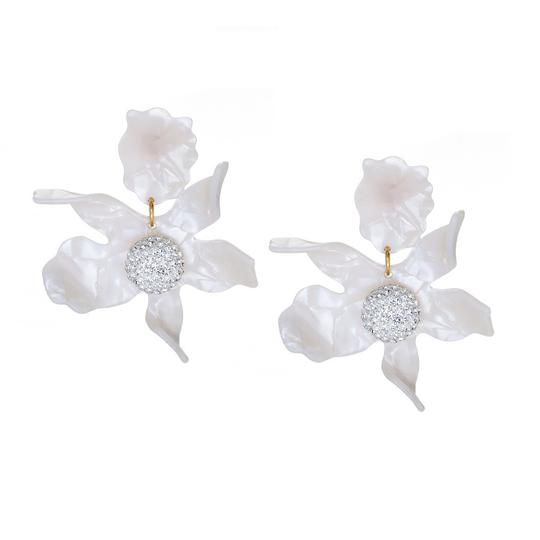 Lele Sadoughi Ivory Mother Of Pearl Orchid Lily Earrings Image 1