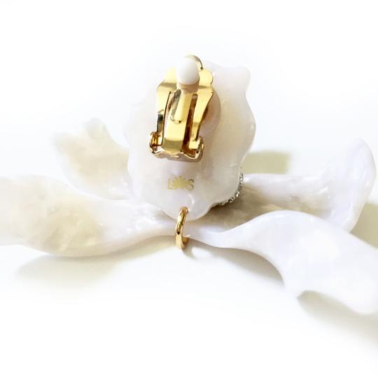 Lele Sadoughi Ivory Mother Of Pearl Orchid Lily Earrings Image 2