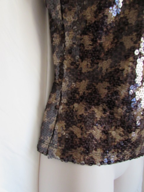 Express Bustier Pattern Size Medium Sequins Top Gingham Checkered/Animal Image 1