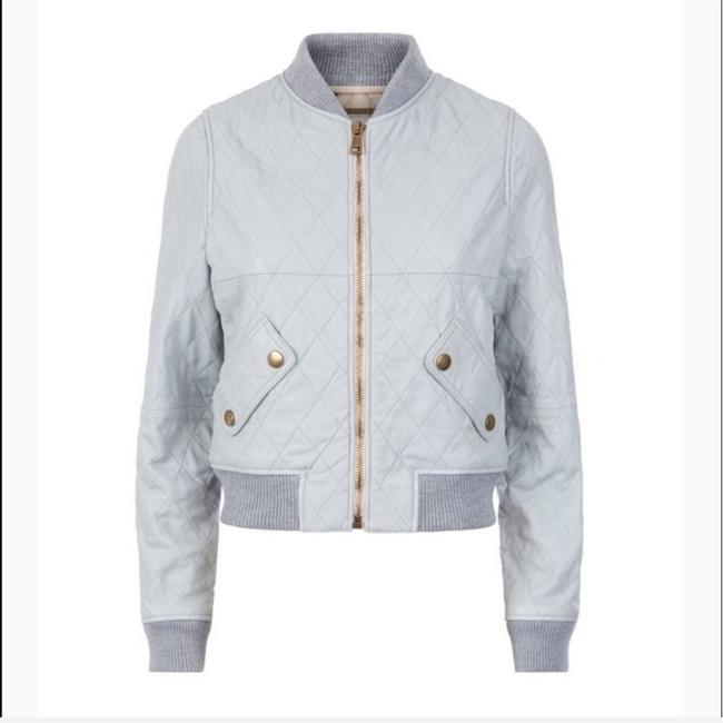 Chloé pastel Blue Leather Jacket Image 3