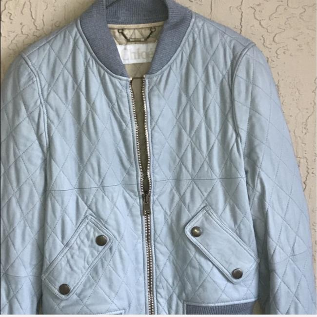Chloé pastel Blue Leather Jacket Image 6