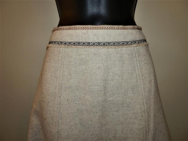 Gap Wool Lined Dryclean Only Zipper Skirt Tan Image 1