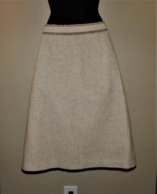 Gap Wool Lined Dryclean Only Zipper Skirt Tan Image 2
