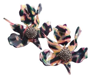 Lele Sadoughi BRAND NEW Lele Sadoughi Twilight Multicolo Crystal Lily Flower Earring