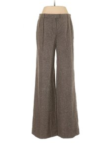 Vanessa Bruno Relaxed-trouser Mid-rise Wool Comfortable Trouser Pants Brown