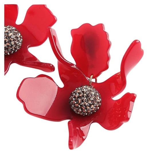 Preload https://img-static.tradesy.com/item/24674591/lele-sadoughi-red-raspberry-crystal-lily-flower-earrings-0-2-540-540.jpg