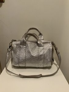 Alexander Wang Leather Satchel in Silver