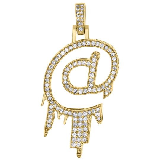 Preload https://img-static.tradesy.com/item/24674657/jewelry-for-less-10k-yellow-gold-white-diamond-mens-real-drip-at-symbol-emoji-pendant-2-pave-140-ct-0-0-540-540.jpg