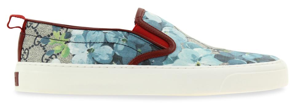 17d46a42225 Gucci Blue Blooms Slip On Sneakers Size EU 36.5 (Approx. US 6.5 ...