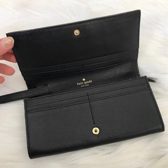 Kate Spade Leather Bow Wallet/Convertible Wristlet Image 3