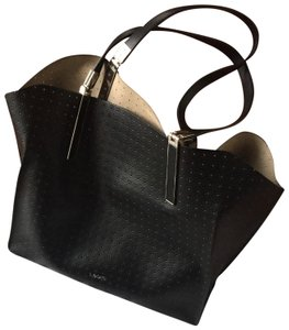 Lodis Leather Imported Leather Lightweight Liner & Dust Tote in Black