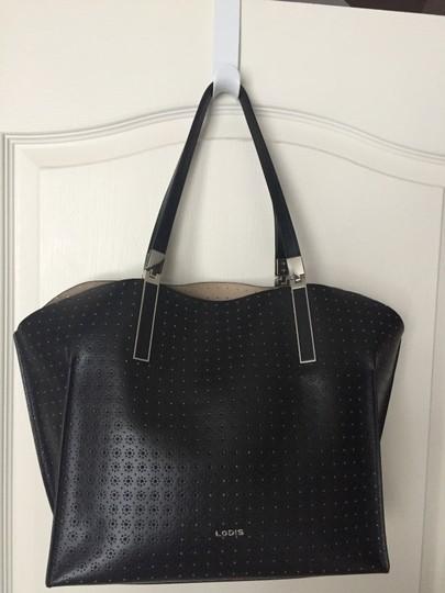 Lodis Leather Imported Leather Lightweight Liner & Dust Tote in Black Image 1