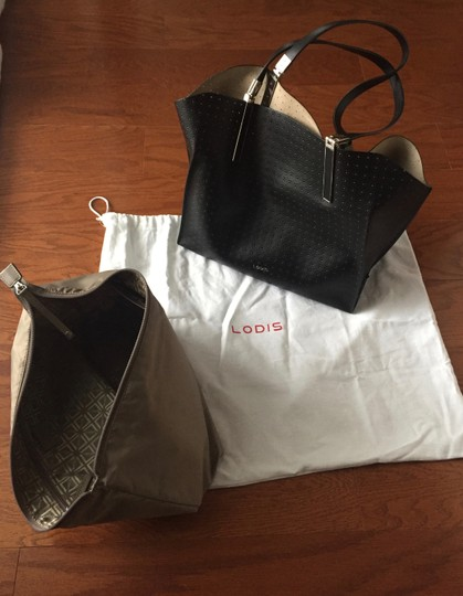 Lodis Leather Imported Leather Lightweight Liner & Dust Tote in Black Image 11