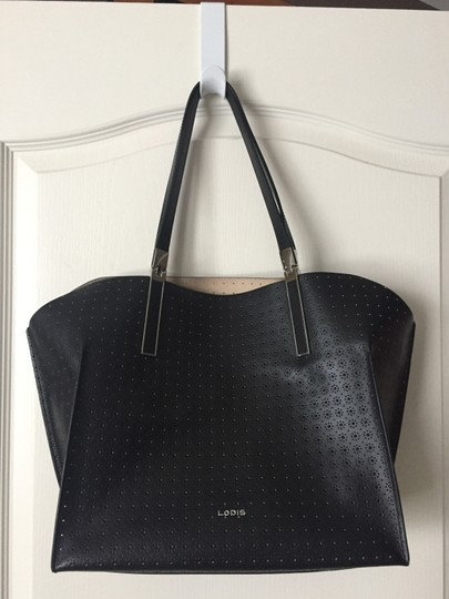 Lodis Leather Imported Leather Lightweight Liner & Dust Tote in Black Image 4