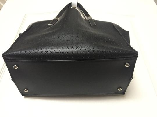 Lodis Leather Imported Leather Lightweight Liner & Dust Tote in Black Image 7