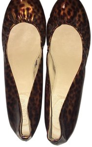 J.Crew Leopard Patent Leather Ballet Brown Flats