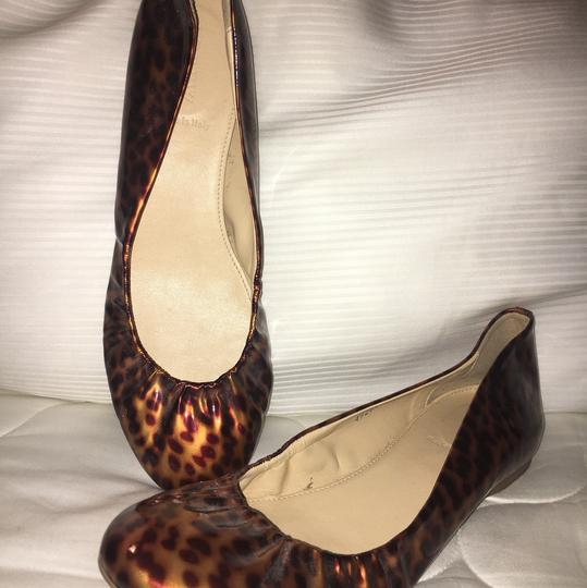 J.Crew Leopard Patent Leather Ballet Brown Flats Image 5