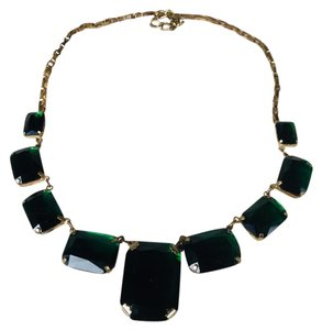 Cache Emerald and gold plated Cache Necklace