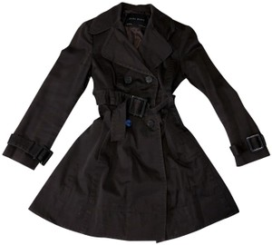Zara Double Breasted Belted A-line Trench Coat