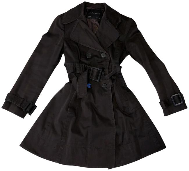Zara Double Breasted Belted A-line Trench Coat Image 0