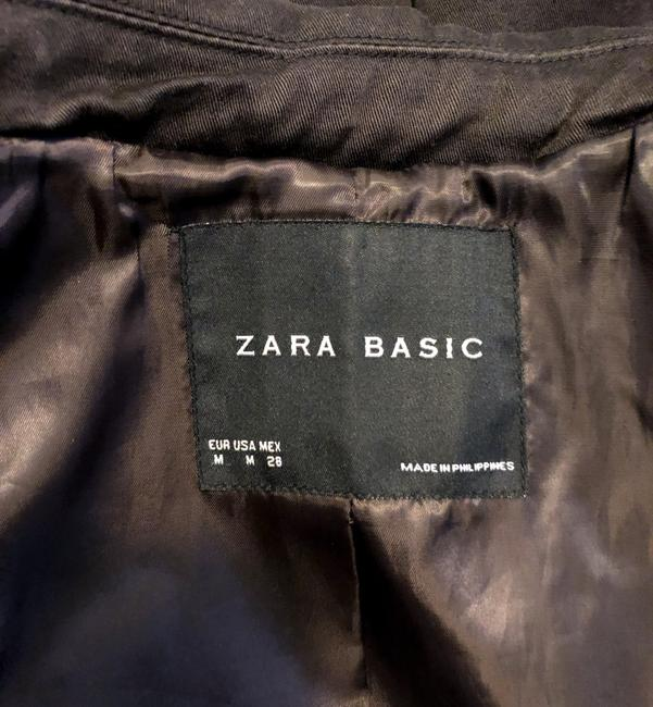 Zara Double Breasted Belted A-line Trench Coat Image 2