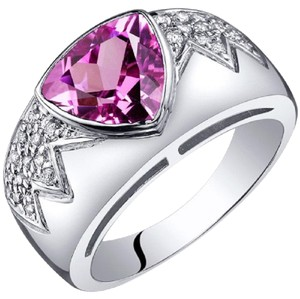Other Glam Fashion Sapphire Trillion Cut Ring