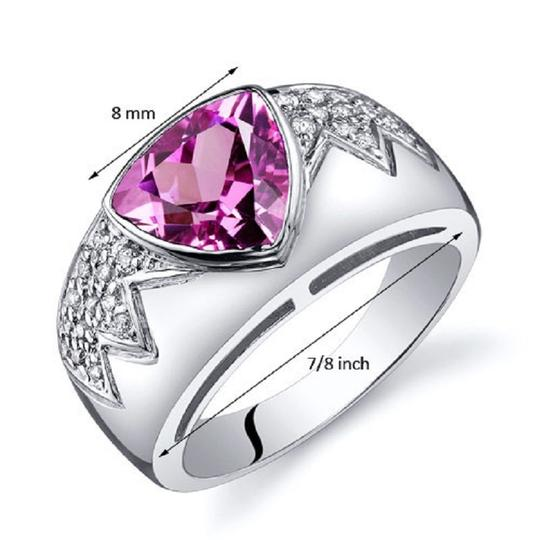 Other Glam Fashion Sapphire Trillion Cut Ring Image 1